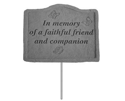 02101 Garden Stake - In memory of a faithful friend-0