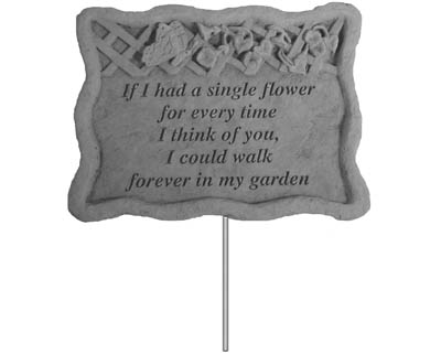 02301 Garden Stake-If I had a single...-0
