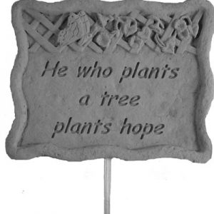 02302 Garden Stake-He who plants...-0
