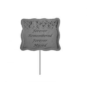 02303 Garden Stake-Forever Remembered...-0
