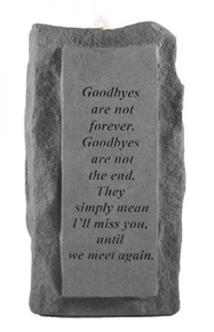 05220 Goodbyes are not...single-tall votive holder-0