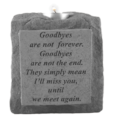 05320 Goodbyes are not...single-short votive holder-0