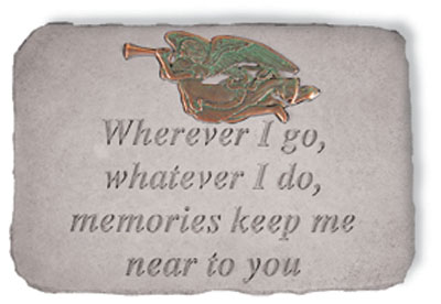 06190 Wherever I go...w/metal trumpet angel(verde)-0