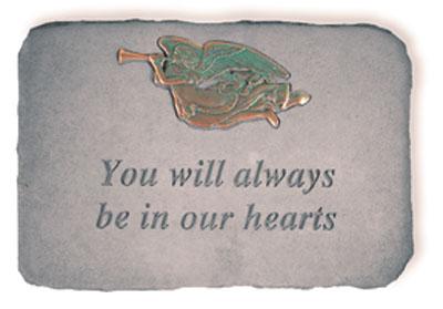 06290 You will always...w/metal trumpet angel(verde-0