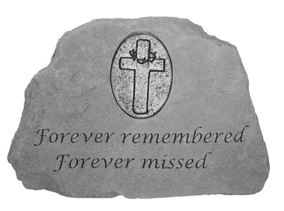 09155 Forever remembered...w/cross-0