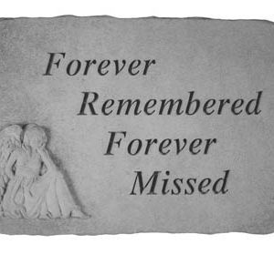 22120 Forever Remembered...(with sitting angel)-0