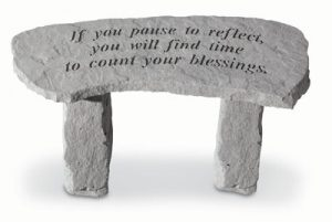 36320 If You Pause To Reflect...(Small Bench)-0