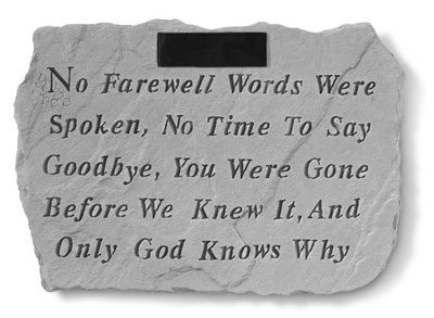 51520 No Farewell Words...Personalized-3895