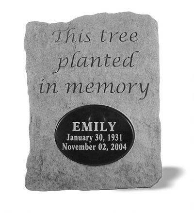 52120 This tree planted...w/ marble insert-4431