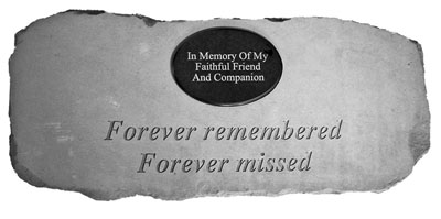 52320 Forever remembered..(Bench)marble oval insert-0