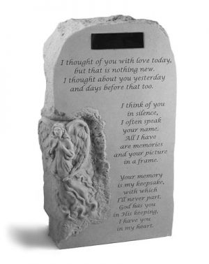 54820 Angel Obelisk w/ I thought of you...Personalized-0