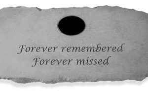 56720 Forever remembered Forever missed...Personalized Bench-0