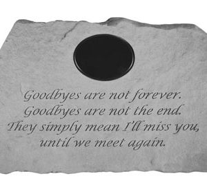 58720 Goodbyes are not...W/marble insert-0