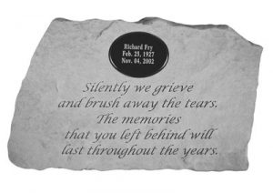 58820 Silently we grieve...w/marble insert-0