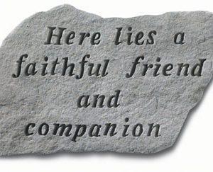 67720 Here Lies A Faithful Friend...-0