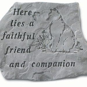 67820 Here Lies A Faithful Friend...w/cat-0