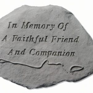 93720 In Memory Of A Faithful w/leash & collar-0