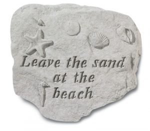 Leave the sand at the beach-0