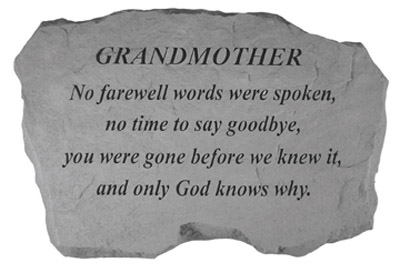 98020 GRANDMOTHER- No Farewell Words...-0