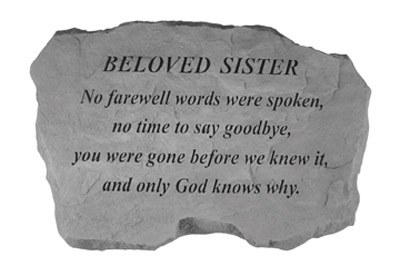 98320 BELOVED SISTER- No Farewell Words...-0