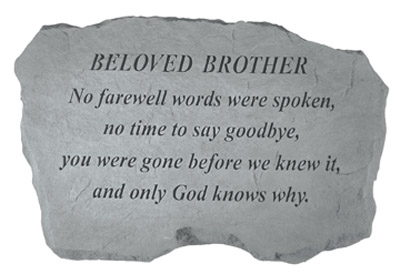 98420 BELOVED BROTHER- No Farewell Words...-0