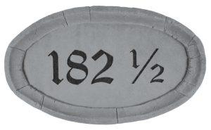 33110 Oval Address Plaque-0