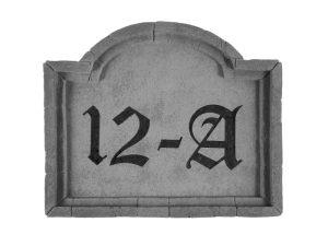 33210 Address Plaque Sm Crescent top-0