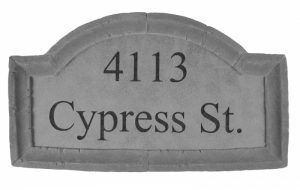 33310 Address Plaque Lg Crescent top-0
