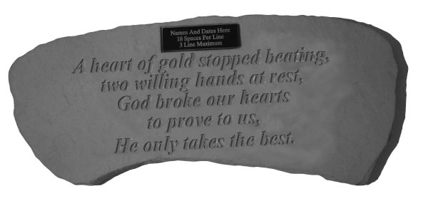 A heart of gold...Personalized Bench-0